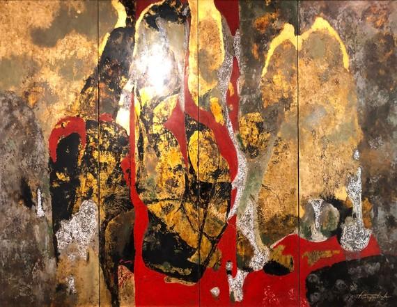 Trao 11 giải thưởng triển lãm tranh sơn mài truyền thống