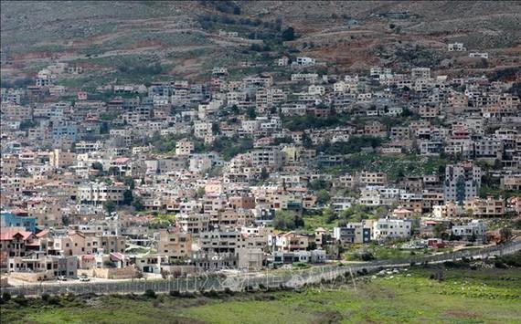 Hình ảnh thị trấn Majdal Shams trên Cao nguyên Golan do Israel chiếm đóng ngày 26-3-2019. Ảnh: TTXVN
