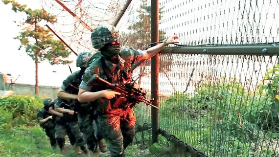 Quân đội Hàn Quốc tuần tra tại khu vực biên giới giáp Triều Tiên