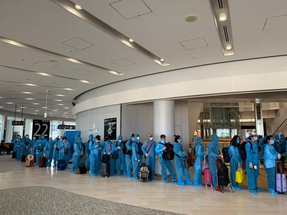 Hơn 340 công dân Việt Nam ở Nhật Bản được đưa về nước ngày 5-6. Ảnh: Bộ Ngoại giao