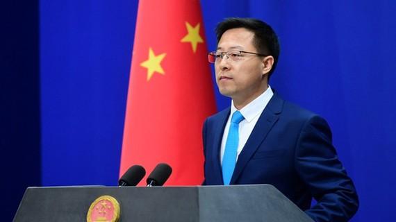 Người phát ngôn Bộ Ngoại giao Trung Quốc, ông Triệu Lập Kiên. Ảnh: Bộ Ngoại giao Trung Quốc