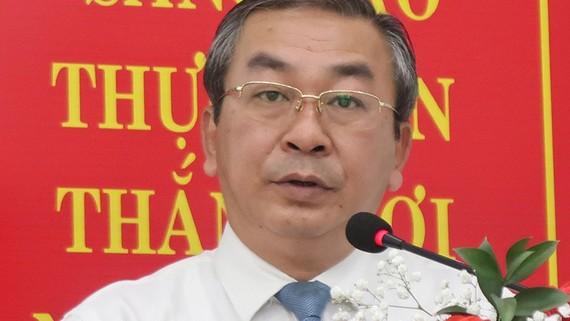 Đồng chí Võ Ngọc Quốc Thuận, Bí thư Đảng ủy khối nhiệm kỳ 2015-2020