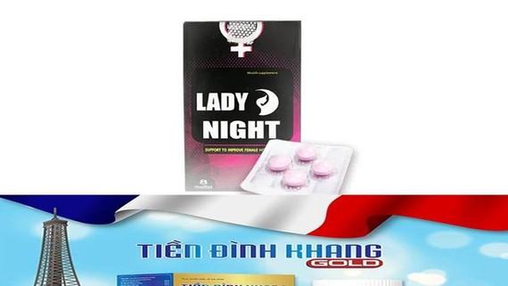 Website https://chuyensuckhoesacdep.com/lady-night có nội dung quảng cáo sản phẩm thực phẩm bảo vệ sức khỏe Lady night và Tiền Đình Khang Gold như thuốc chữa bệnh, vi phạm quy định pháp luật về quảng cáo