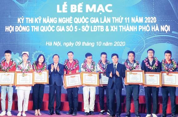 Kỳ thi Kỹ năng nghề quốc gia năm 2020 vừa bế mạc tại Hà Nội