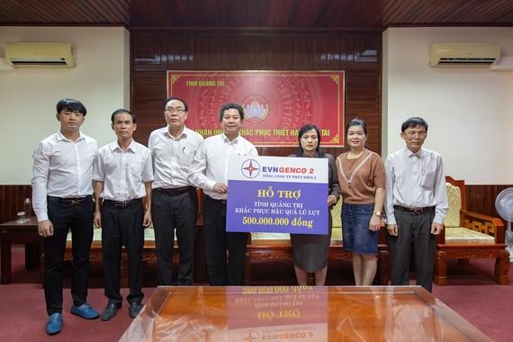 GENCO 2 hỗ trợ UBMTTQVN tỉnh Quảng Trị 500 triệu đồng để khắc phục hậu quả lũ lụt
