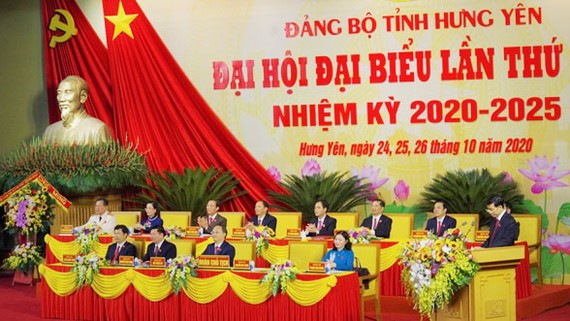 Đại hội đại biểu Đảng bộ tỉnh Hưng Yên lần thứ XIX, nhiệm kỳ 2020-2025 chính thức khai mạc  sáng 25-10