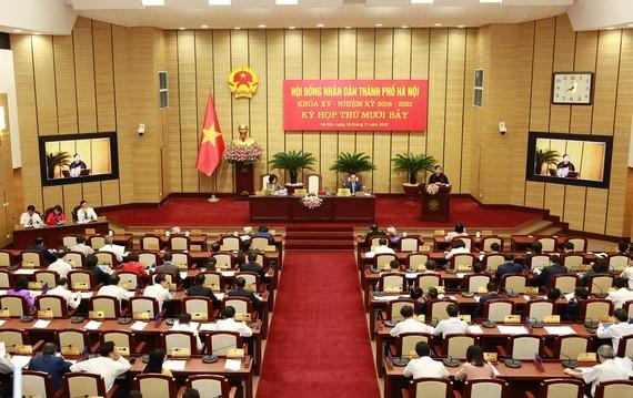 Quang cảnh Kỳ họp thứ 17 HĐND TP Hà Nội. Ảnh: LAODONGTHUDO.VN