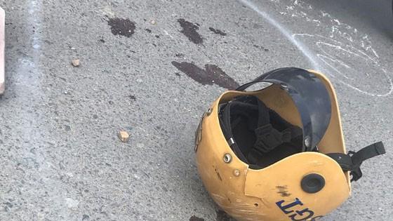 Hiện trường vụ hai thanh niên chạy xe máy quá tốc độ quy định lao vào tổ công tác CSGT Đa Phước