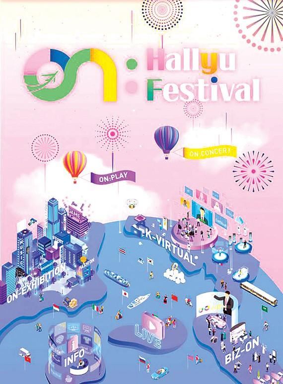 """Poster  quảng cáo """"Lễ hội ON: Hallyu""""  trực tuyến"""
