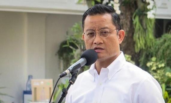Bộ trưởng các vấn đề xã hội Indonesia Juliari Batubara. Ảnh: CNN INDONASIA