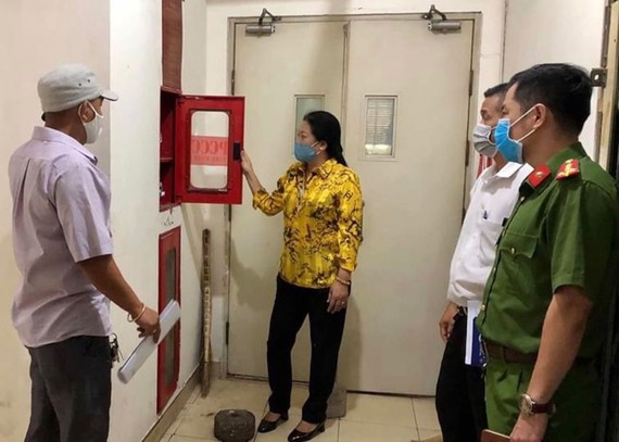Ủy ban MTTQ quận 10, TPHCM giám sát công tác phòng cháy chữa cháy trên địa bàn