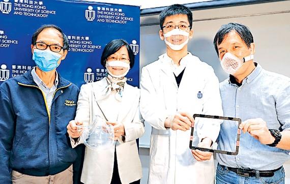 Các nhà khoa học của HKUST giới thiệu khẩu trang  từ tấm màng nano polymer siêu mỏng