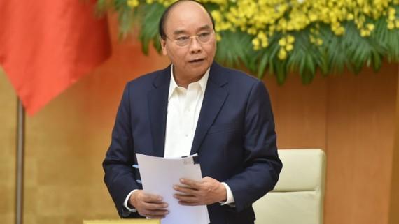 Thủ tướng Nguyễn Xuân Phúc chủ trì phiên họp Chính phủ thường kỳ tháng 12-2020. Ảnh: VGP