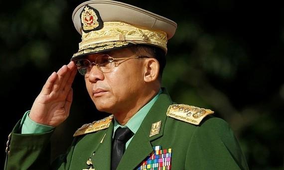 Thống tướng Myanmar Min Aung Hlaing cam kết tổ chức các cuộc bầu cử. Nguồn: REUTERS