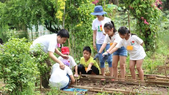 Khóa học về kỹ năng bảo vệ môi trường của AIT Việt Nam thu hút sự tham gia của nhiều học sinh. Ảnh: AIT Việt Nam cung cấp