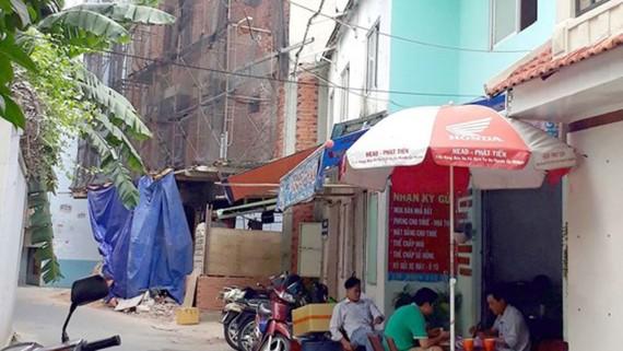 Căn nhà số 30/59 bị người dân tố xây lấn hẻm 46/10 và hẻm 30 đường Nguyễn Cửu Vân
