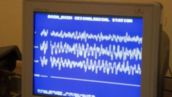 Biên độ giao động động đất xảy ra ngày 9-1 Ảnh: TTXVN