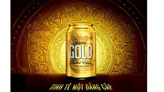 Sabeco ra mắt sản phẩm mới – bia cao cấp Saigon Gold