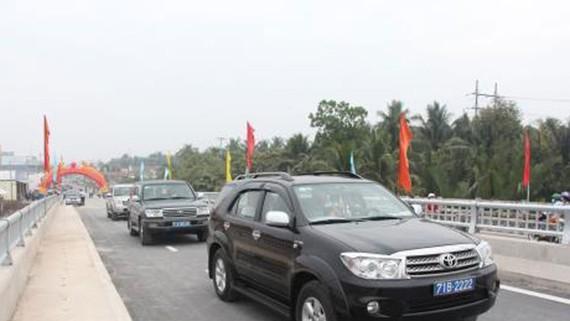 Thông xe các cầu trên Quốc lộ 57 và đường tỉnh 887