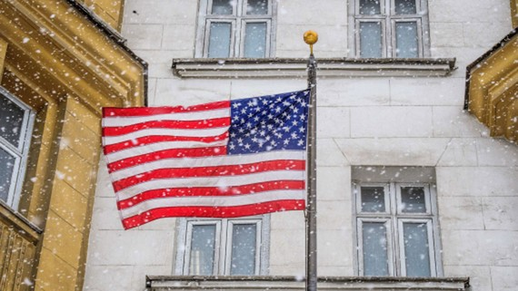 Tòa nhà sứ quán Mỹ ở Moskva (Nga).