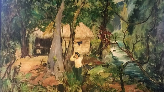 Tác phẩm Sâu thẳm rừng Trường Sơn của họa sĩ Phạm Thanh Tâm