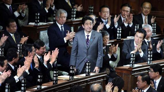 Thủ tướng Shinzo Abe tại Quốc hội Nhật Bản