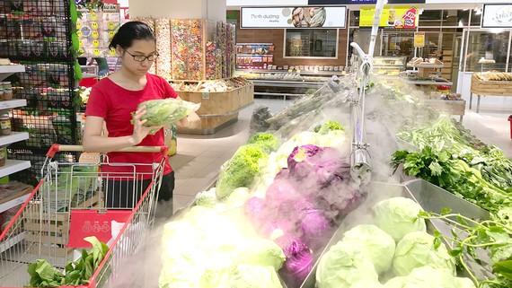 Siêu thị Big C dành riêng gian hàng cho nông sản hữu cơ để người tiêu dùng dễ phân biệt
