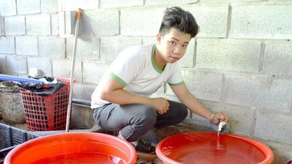 Người dân Làng Chài hiện vẫn phải sử dụng nước ngầm