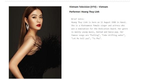 Hoàng Thùy Linh dự Liên hoan Ca nhạc Truyền hình châu Á - Thái Bình Dương