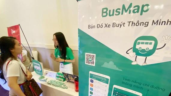 BusMap trợ giúp người đi xe buýt thuận tiện hơn. Ảnh: T.Ba