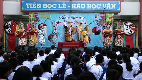Chương trình sân khấu học đường tại Trường THCS Huỳnh Khương Ninh