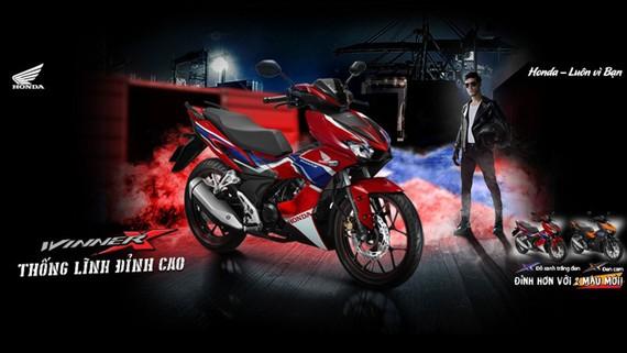 Honda Winner X bổ sung tem màu và phiên bản màu mới