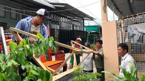 UBND phường 1, TP Cà Mau, cưỡng chế nhà anh Phạm Duy Thanh  xây dựng trong hẻm tự phát