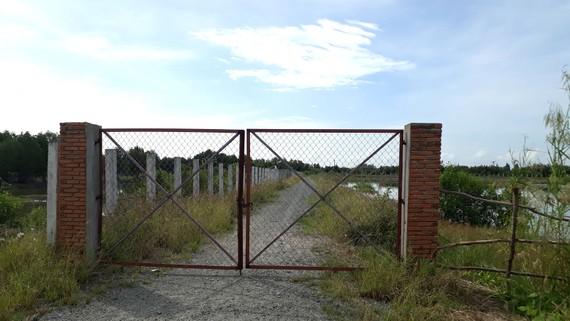 Ngân hàng đất tại xã Trần Thới (huyện Cái Nước, tỉnh Cà Mau) đang bị bỏ hoang. Ảnh: TẤN THÁI