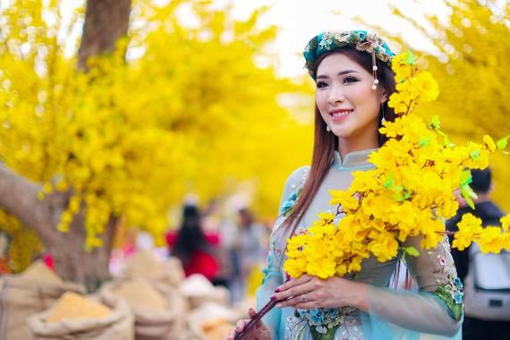 Hoa hậu Du lịch Thế giới được yêu thích nhất năm 2019 Tường Vy. Ảnh: DŨNG PHƯƠNG