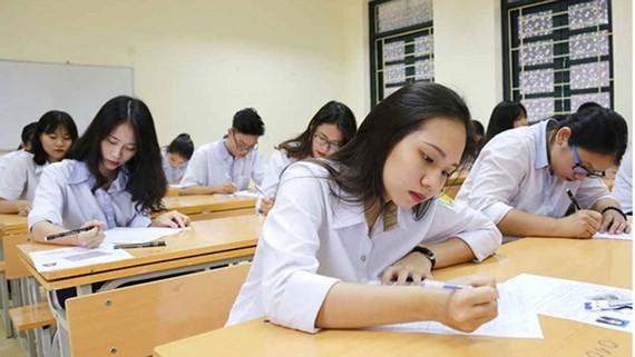 Thí sinh dự thi THPT quốc gia 2019