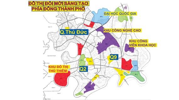 Phối cảnh gắn kết Khu Công nghệ cao TPHCM với  các đơn vị để hình thành Khu đô thị sáng tạo phía Đông