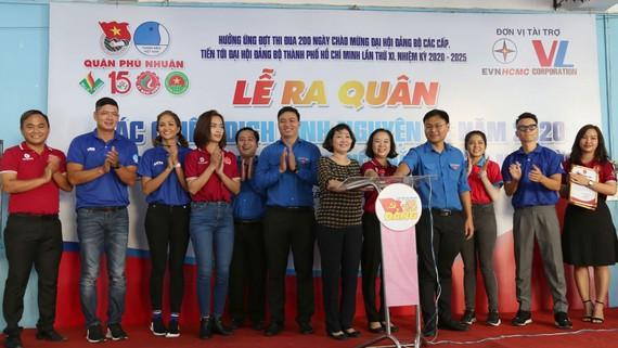 Đưa vào sử dụng hệ thống năng lượng mặt trời  tại Nhà Thiếu nhi quận Phú Nhuận,  do EVNHCMC tài trợ, số tiền 65 triệu đồng