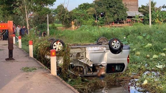 Hiện trường vụ tai nạn. Nguồn: Fresh News