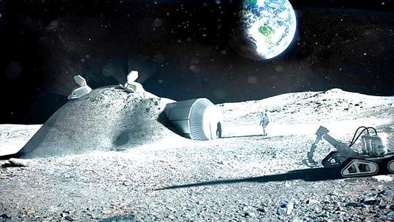 Một căn cứ giả định của ESA trên Mặt trăng
