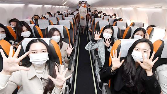 Những chuyến bay du lịch quốc tế không hạ cánh  sẽ bắt đầu từ tháng 12. Ảnh: Korea Times