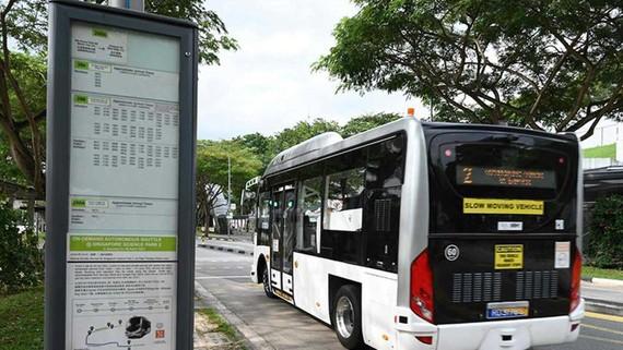 Chiếc xe buýt tự lái ở Singapore đã thử nghiệm