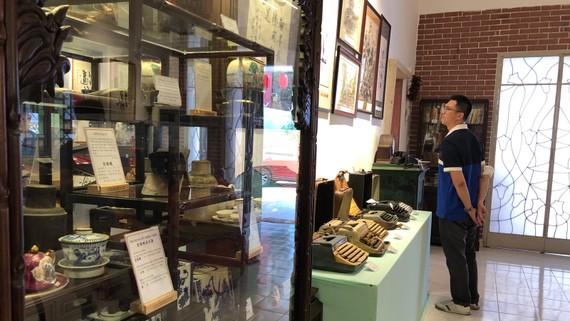 Một góc phòng trưng bày văn hóa người Hoa Sài Gòn - Chợ Lớn
