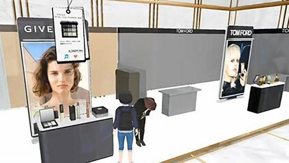 Không gian thực tế ảo mô phỏng cửa hàng Isetan