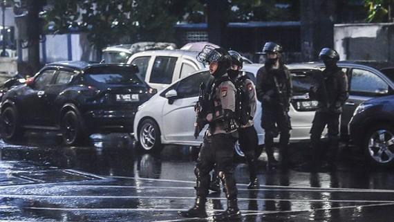 Indonesia tăng cường an ninh chống khủng bố sau vụ xả súng đồn cảnh sát. Nguồn: Kompas