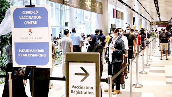 Trung tâm tiêm vaccine Covid-19 đặt tại sân bay quốc tế Changi