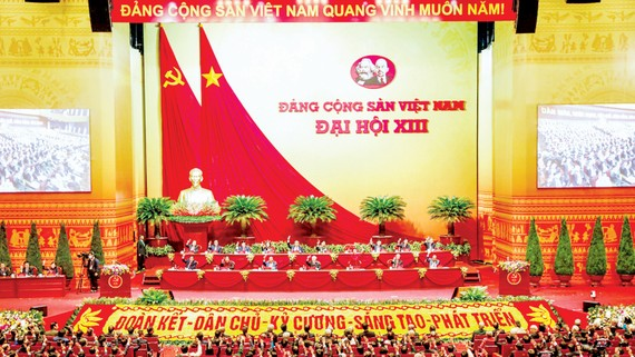 Đại hội lần thứ XIII của Đảng thành công tốt đẹp với những quyết sách đúng đắn, mạnh mẽ, hợp lòng dân, hợp thời đại. Ảnh: QUANG PHÚC
