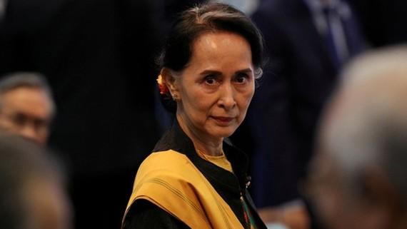 Cố vấn nhà nước Myanmar Aung San Suu Kyi. Ảnh: REUTERS