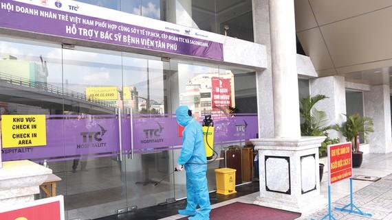 Hội Doanh nhân trẻ Việt Nam, Tập đoàn TTC, Sacombank tiếp sức Bệnh viện quận Tân Phú