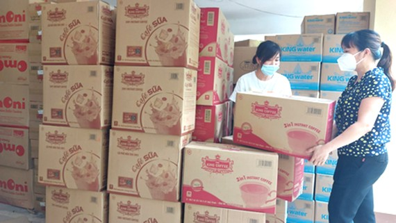 TNI King Coffee tiếp sức y bác sĩ cứu chữa người mắc Covid-19 tỉnh Bắc Giang
